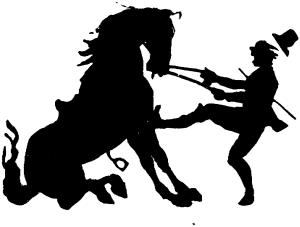 horse struggle